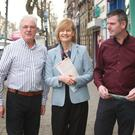 Deirdre Clune MEP visiting Gorey with local Fine Gael election candidates Diarmuid Devereux and Cllr Anthony Donohoe