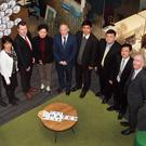Zeng Wenfeng, Tong Xihong, Liz Stanley Wexford County Council; Cllr Malcolm Byrne, Dai Chunying, John O' Connor, Hatch Lab CEO; Yang Lingtai, Cai Lixin, Yu Sheng and David Minogue, head of communications, Wexford County Council
