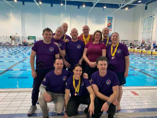 Adult members of the Courtown group at the national pool competition in Limerick in February