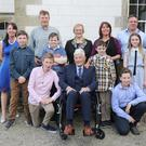 Ned Fenlon, Galbally, Bree with his wife Bee and daughters Anne Marie, Jacinta and Catherine, sons-in-law David and Nikk, and grandchildren Edward, Caitlin, Garry, Patrick, Aaron and Kyle at his 100th Birthday Party in Wilton Castle