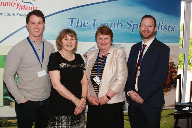 Willie Devereux, proprietor, Wells House, Sabine Rosler, Alice Doyle of the IFA and Brian Pearson, Wright Insurance