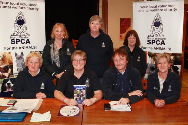 North Wexford SPCA AGM in the Loch Garman Arms, outgoing committee, front row: Teresa Kirwan, Eimear McGrath, Joe Murray and Tracy Smith. Back: Siobhan Ryan, Sinead O'Connor and Patsy Kenny