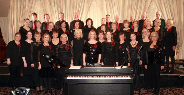 Gorey Choral Group with their musical director Eithne Corrigan