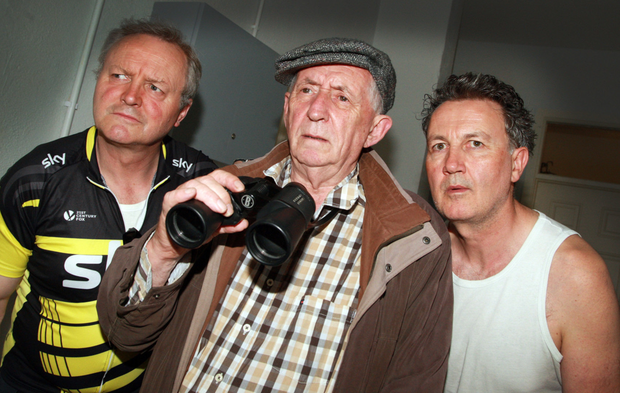 Cast members Michael James Ford, Tom Lawlor and Malachy McKenna