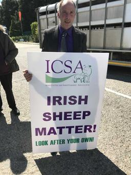 Sean McNamara, Chairperson of the ICSA at a recent protest