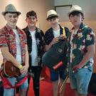 Wexford band L.I.V.E.L.Y. backstage at the Irish Youth Music Awards event.