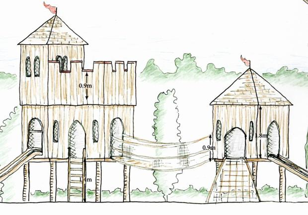 Artist's impression of the new Norman themed playground being developed in Ferns