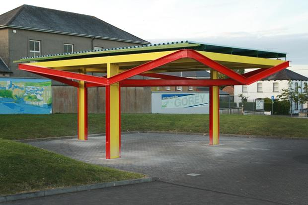 The James Joyce inspired Circe Pavilion in Gorey which is on a long term loan to Wexford County Council from the Treeline Project and funded by the Arts Council