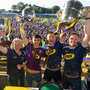 Mary Rose Kelly, Ladies Football Captain, Minor Hurling Captain Richie Lawlor and Senior Hurling Captains Lee Chin and Matthew O'Hanlon soak up the heroes' welcome