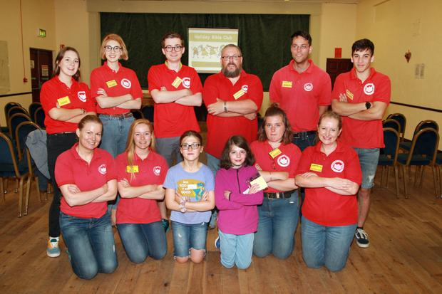 Some of those involved the holiday bible club organised by Gorey Christian Assembly at Riverchapel Community Centre