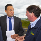 An Taoiseach Leo Varadkar TD with Wexford IFA Chairman James Kehoe
