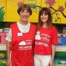 Children in Hospital Ireland volunteers Pat Highland and Catherine O'Reilly at Wexford General Hospital