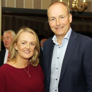 Cllr Lisa McDonald and party leader Micheál Martin at the Fianna Fáil 'Think-in' in Gorey