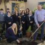 John Connolly, acting principal, Selskar College, and Anna Zwierzchowska planted a tree as part of the green school initiative and National Tree Week