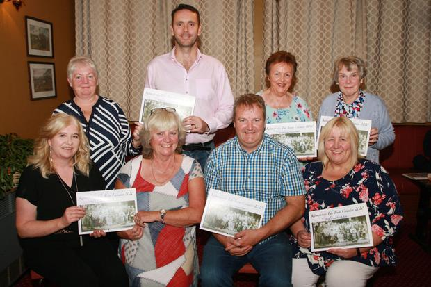 Tidy Towns Committee, front: Aideen Hayes, PRO; Iris McMenamin, chairperson; John Hearne and Cllr. Mary Farrell. Back: Angela Kelly, Shane Forsey, Betty Walsh and Bridie Hammel