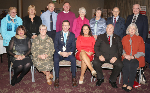Older People's Council committee with chairman Kevin Molloy and chairman of Wexford County Council, Cllr Michael Sheehan at the Older People's Council AGM in the Riverside Park Hotel