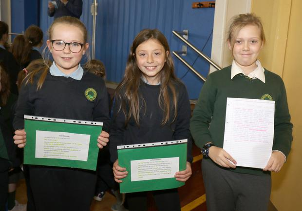 Sarah Kennedy 5A, Luana Rodigues 5C and Natalie Kelly 6A were speakers at the Climate Action Day