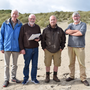 Coastwatch volunteers Senan O'Reilly, Joe Kennedy, Michael Berry and Pat Doyle during a Coastwatch survey in south Wexford