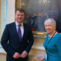 Malcolm Byrne TD with his mother Mary on his first day in Dáil Éireann