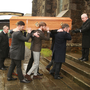 The funeral and service of thanksgiving at Christ Church Gorey for the late David O'Morchoe