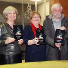 Publisher Carol Boland, Gorey Writers chairperson Bernie Walsh, author Jackie Barrett and Aoife Barrett, who designed the cover