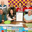 At the Wexford COPD Peer Support Group open day: (from left) back, Sean Murphy, Richard Murphy, Breda Flood and John Bruce; front, John O'Gorman, Lanie Bruce and Richard Hanly