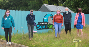 Kim Smyth from Seal Rescue Ireland with Lauren Vickers, Cathy Lee, Eddie Cussen and Anna Lee