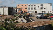 Work has begun to clear the former Bayview Hotel in Courtown