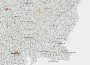 Wexford on the Covid-19 Data Hub map