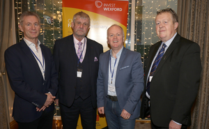 Ed Murphy, Invest Wexford; Jimmy Gahan, Enniscorthy Chamber of Commerce; Tomas O'Leary, MosArt and Ger Mackey, manager of Enniscorthy Municipal District
