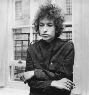 An iconic photo of Bob Dylan