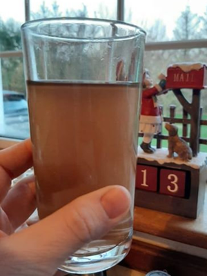 An example of the dirty water coming from taps in South Wexford sent to Cllr Jim Codd