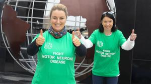 Cllr Bridin Murphy and Vanessa Davey, organiser, supporting the Fight for Motor Neurone Disease fundraiser. Photo: Mary Browne