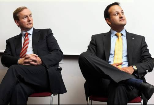 Leo Varadkar and Taoiseach Enda Kenny