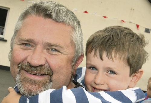 Sean Browne with his son, Denis, enjoying The Gap Arts Festival