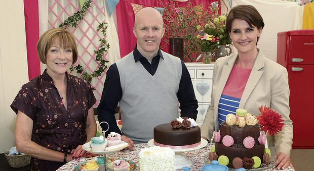Biddy White Lennon, Executive Pastry Chef Paul Kelly and Anna Nolan at the launch of TV3's 'The Great Irish Bake Off'.