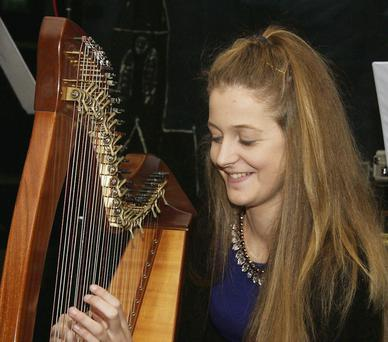 Playing the Harp Hilda Browne, Gorey