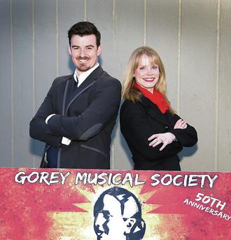 Leads, Gary Stephens 'Che' and Ciara Herron 'Eva Peron' in, Gorey Musical Society upcoming production of, Evita.
