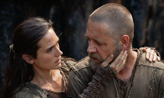 Jennifer Connolly and Russell Crowe in Noah