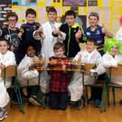 Students at St. Mary's national school during the school's Exploring Space science fair