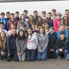 History students from Gorey Community School, pictured with their teachers before they set off to Poland