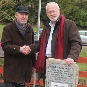 Joe Comerford and David Keogh, relations of the late Maire Comerford and Aileen Keogh