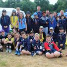 The Gorey and Piercestown Cub Scouts who took part in the JamÓIGE camp with 2,500 other Cubs in Limerick recently
