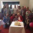 Aggie Somers from Croneyhorn, Carnew, celebrating her 80th birthday with her family