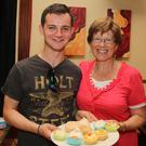 Volunteer Paul Teal with his mother Eilis Teal at the 'Project Trust' fundraiser coffee morning in the Loch Garman Arms