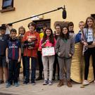 Paddy Delaney, Ben Kavanagh, Tai Leonard, Alex Nuzum, Richard McCarthy, Sarah Reid, Lora Doyle, Emma Reid, Cathal O'Dubhlaing and Niall McDonald who all took part in the Coolgreaney Summer Film Camp recently