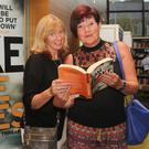 Writing a deadly debut with best selling authors Sam Blake and Catherine Ryan Howard at Gorey Library were Elaine Banfield and Tricia Holbrook