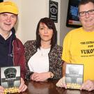 Runners, Cyrus Kavanagh, Mags Bolger and founder Bosnia Refugee Aid, Kevin Leacy at the launch of Vukovar 'The Extre Mile' DVD at Breens Bar