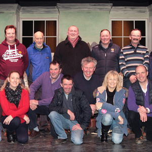 The production team and cast members at rehearsals in Kilmuckridge