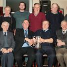 Front row: Billy Donnelly, Kilmuckridge Ploughing Assoc; chairman, Murt O'Sullivan, Dan Donnelly, 5 Nations reversible ploughing winner and president, George Walsh. Back row: committee members Francis Harney, Martin Sinnott, Jack Murphy, Cecil Walsh, Paddy Murphy and vice chairman, Pat Furlong.